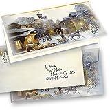 TATMOTIVE 04-0110-0235-00100 Aquarell Weihnachtskarten Set selbst bedruckbar, mit Umschläge, 100 Sets