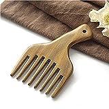Massage-Kamm-hölzerner Kamm-breiter Zahn-Grün-Sandelholz-Taschen-Kamm-kleine Haarkamm-Haarbürste(Massagekamm)