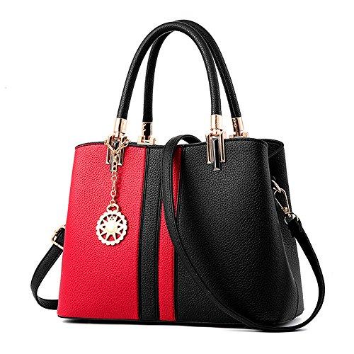 IMBETTUY Damen Handtasche Schultertasche Damen Schultertasche Mädchen Tragetaschen Messenger PU Leather Shopper … (Suite Tragetasche)