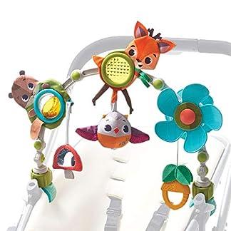 Tiny Love Musical Nature Stroll Into the Forest – Arco con juguetes de animales, a partir de 0 meses, clip ajustable que lo hace compatible con la mayoría de cochecitos