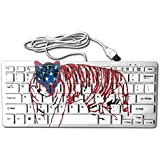 Tiger Stripes 78 Keys Wired USB Mini Slim Keyboard For Pc Computer Laptop
