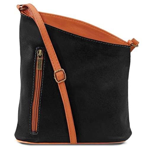 Tuscany Leather TL Bag Tracollina unisex in pelle Rosso Nero