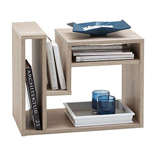 FMD Möbel 648-001 - Tavolino d'appoggio Fritz, 60 x 48 x 40 cm, in legno di rovere