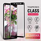 Youer Galaxy Note 8 Screen Protector, [2Pack] Samsung Galaxy Note 8 Premium Tempered Glass Screen Protector Film, 9H Hardness, Anti-Fingerprint HD, Bubble Free, Full Coverage Samsung Note 8 Screen Protector Film - Black