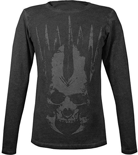 Musterbrand-The-Witcher-Langarm-T-Shirt-Herren-Eredins-Wrath-Geralt-Outfit-Schwarz