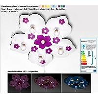 KIDSLICHT Kinderzimmerlampe Led Schlummerlicht Blume 225-2-Weiß-Li Kinderlampe Lampe Babyzimmer Leuchte