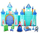 #6: HALO NATION Fashion Frozen Complete Doll House play Set with Miniature Princess Figurine (Cool Princess Castle)