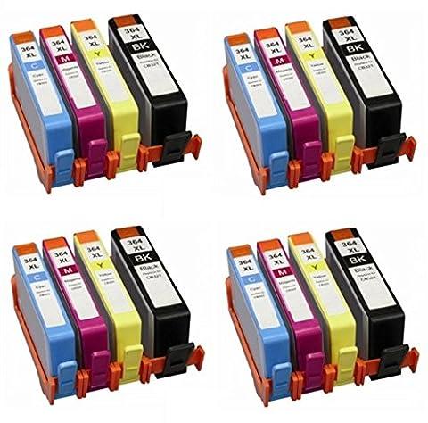 Prestige Cartridge HP 364XL Pack de 16 Cartouches d'encre compatible avec Imprimante HP Deskjet/Officejet/Photosmart Séries, Noir/Cyan/Magenta/Jaune