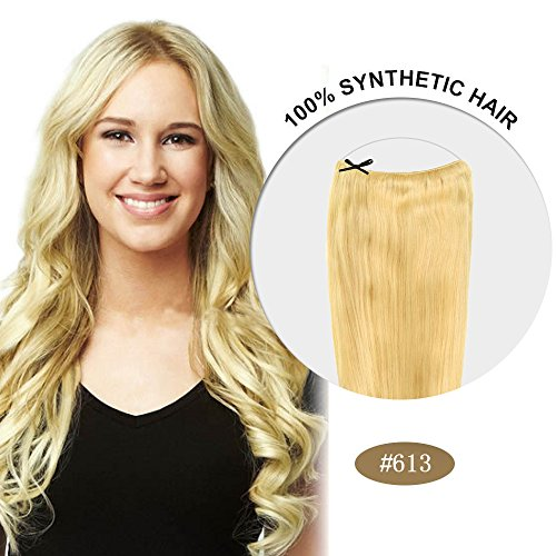 Secret Hair/ Flip-In Hair 20 Inches Invisible Attached Straight Hair / Balabella Hair (Bleach Blonde(#613))
