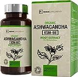 Ashwagandha KSM-66® 300 mg – 60 Kapseln | SEHR STARKES ASHWAGANDHA-EXTRAKT | Stärkt das Immunsystem, wirkt gegen Stress | Hergestellt in ISO-zertifizierten Betrieben in GB | 30 Tage Geld-zurück-Garantie (1 Flasche)