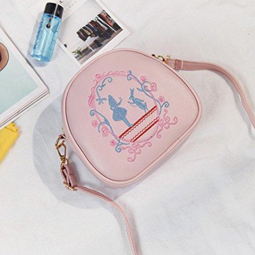BZLine® Frauen Crossbody Umhängetasche Tasche Handtasche kleinen Körper Taschen, 18cm*7cm*17cm Pink