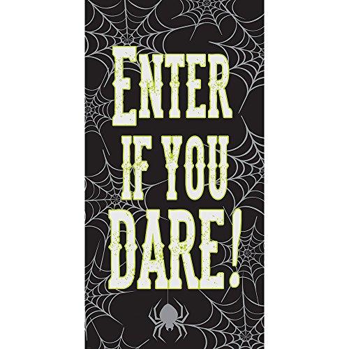 Creative Converting 12Stück Halloween Tür Poster, geben Sie, wenn Sie Dare (Halloween Haus Dekoration Beste)
