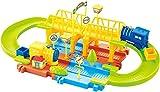 #5: Saffire Mimi Train Set with Upper and Lower Level and Bridge, Multi Color
