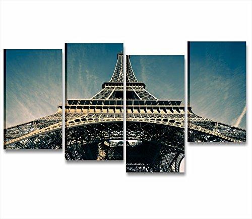 paris-eiffel-chassis-cadre-moderne-152-x-78-cm-impression-sur-toile-ville-skyline-paysages-tour-eiff