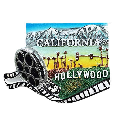 Hollywood Los Angeles California USA 3D Kühlschrank Magnet Souvenir Geschenk Reise Aufkleber Souvenir Home & Kitchen Dekoration Magnet Sticker Collection California America Kühlschrank Magnet