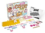 Fuzzikins Cozy Cats - Creative Colouring Craft set with cute Cat family to colour & play! Make their beds, clothes & accessories. Washable felt tip pens & stickers included