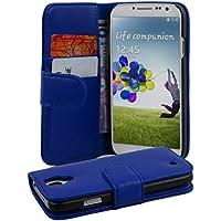 Samsung Galaxy S4 Hülle in BLAU von Cadorabo - Handyhülle mit Kartenfach Case Cover Schutzhülle Etui Tasche Book Klapp Style in BRILLANT BLAU