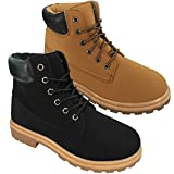 ShopOnline® LADIES LACE UP WOMENS COMBAT GIRLS GRIP SOLE FOOTWEAR FLAT ARMY STYLE ANKLE BOOTS SHOES SIZE