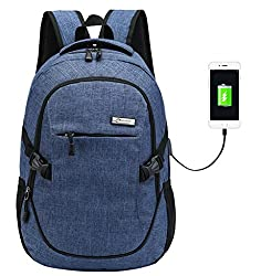 Super Modern Unisex Nylon School Backpack With Usb Charger Port Laptop Bag For Teen Girls & Boys Cool Sports Backpack