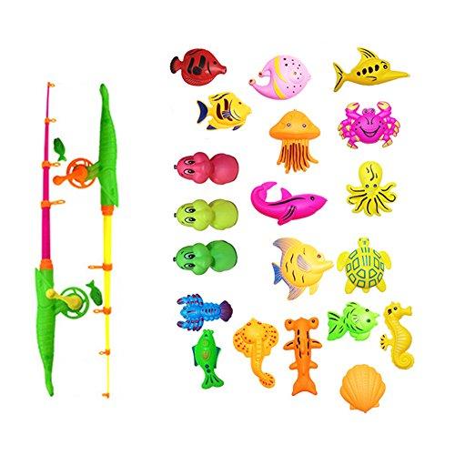 Pro 39pieces Magnetischer Angeln Spielzeug Kit Floating Angeln Play Set in Badewanne Pool für Kinder Kleinkind (Fisch-spiel-tisch)