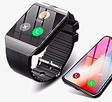 Montre Connectée Smart Watch pour Smartphone compatible Apple iOS, Android et Windows Bluetooth 4.0 montre intelligente avec Support carte SIM et fonction Fitness Tracker pour le Sport couleur Noir