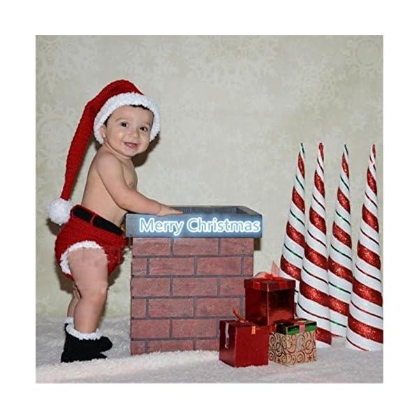 PriMi – Encantador Traje navideño para bebé Tejido a Mano para sesiones de fotografías