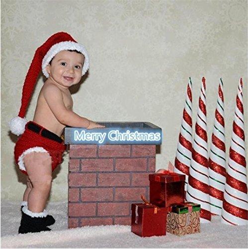 Imagen de lookout recién nacido bebé fotografía props tejido a mano ganchillo disfraz traje de navidad estilo encantador invierno 3 6 months talla 3 6 meses alternativa