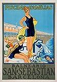 Generic San Sebastian Vintage Reisen Fotodruck Poster Stadt