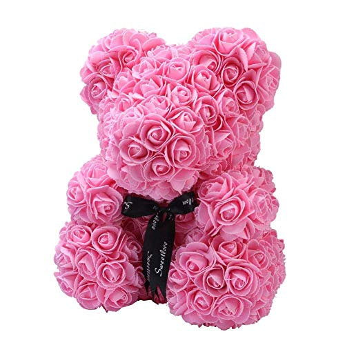 rty Decoration,Valentine 's Day Artificial Rose Teddy Bear Gift Girlfriend Kid Flower Creative Gift Anniversary,Wedding, Birthday Love Bear Dolls Present size 40CM (Rosa) ()