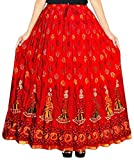 Kanika Fashion Women Maxi Skirt (KRFC001_Red_XX-Large)