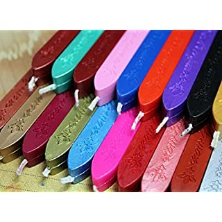 AmgateEu 10 PCS Multi-Color Envelope Seal Wax Seal Stamp Sealing Wax Sticks with Wick , Random Color