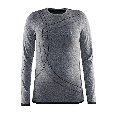 Cross-country-t-shirts (Craft Kinder Active Comfort RN LS Junior, Cross-Country / Running Mixed Kind, B403 Smoothie - schwarz - DE :146/152 (Taille Fabricant : 12 ans))