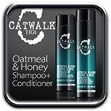 Tigi Catwalk Oatmeal & Honey Shampoo + Conditioner, Haferflocken und Honig, Duo-Set, 250 ml und 300 ml
