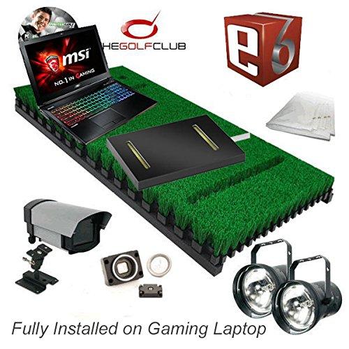 PROTEE Boden Pack Zwei Golf Simulator mit Putting Sensor TGC und E6Software Pakete vollständig installiert auf Gaming Laptop.