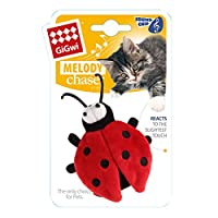 Rosewood Pet Products Gigwi Melody Chaser Ladybird Interactive Cat Toy