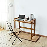 LLA Life New Home Office Desk Study Laptop Desk Computer Writing Table Work Station Wooden Toolless Foldable Solid Hard-Wood, Classic Computer Desk Work Rustic, Wood,Exemption from Installation,84