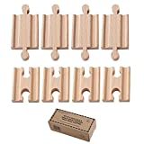 Orbrium Toys Male-Male Female-Female Wooden Train Track Adapters Fits Thomas Brio Chuggington, Set of 8