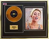 Everythingcollectible Miley Cyrus/Mini Metal Gold Disc & Photo Display/ÉDITION LIMITÉE/COA/Bangerz