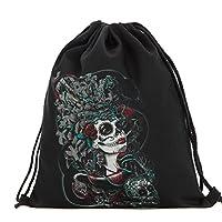 Halloween Candy Drawstring Backpack, KEERADS Unisex 3D Print Drawstring Backpack Rucksack Shoulder Bags Gym Bag (D)