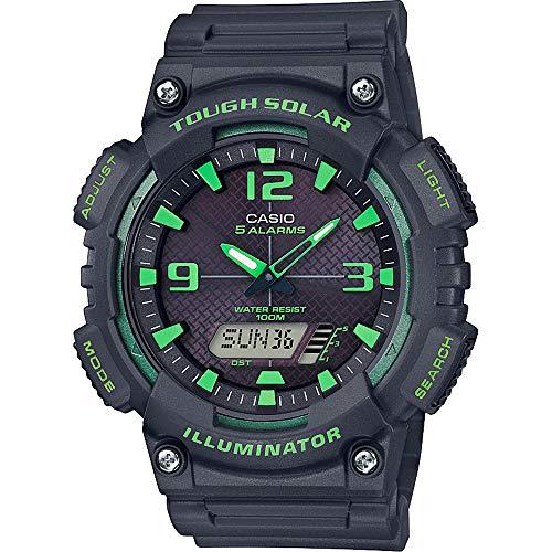 CASIO Herren Analog-Digital Quarz Uhr mit Harz Armband AQ-S810W-8A3VEF