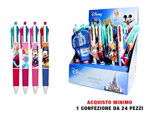 Disney Penne 4 Colori 24 Pezzi Fantasie Assortite In Espositore