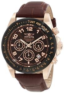 Invicta 10712 - Reloj de pulsera hombre, piel, color marrón de Invicta