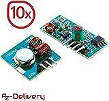 AZDelivery 10 x 433 MHz Funk - Sende und Empfänger Modul Set für Raspberry und Arduino Wireless Transmitter Receiver mit gratis eBook!