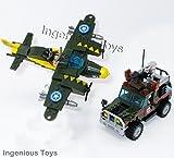 Ingenious Giocattoli SECONDA Guerra Mondiale Militare Aeroplano Aria RICARICHE & Esercito Camion / 241pcs Elementi COSTITUTIVI Costruzione Set #1707