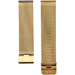 Mallom® Watch Band 20mm Stainless Steel Watch Strap Gold