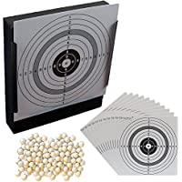Trichter Kugelfang und 100 original ShoXx./® shoot-club Zielscheiben mit 250 g//m/² gratfreie Softair BBs Kal 5000 hochwertige 6 mm 0,12 g