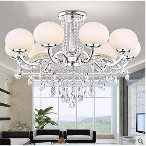 WEIAN Sospensione moderna ed elegante lampadario & Clear gioiello perline plafoniera