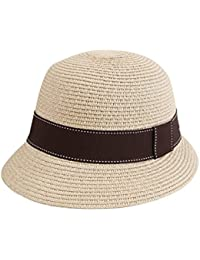 Beach Sun Hat Outdoor hat Straw Hat Female Summer Hat Travel Hat Holiday Cap (Two Colors ) Soft and comfort