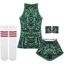 iiniim Disfraz de Animadora Bailarian Tenis para Niña Ropa de Danza Hip Hop  Jazz Baile Callejero b3c02d6827b
