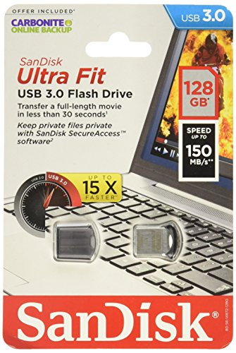 Sandisk Ultra Fit USB3.0 128GB Flash Memory Card SDCZ43-128G-A46